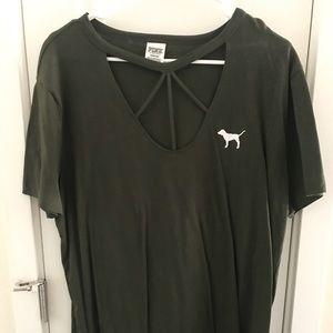 VS PINK green t-shirt